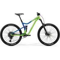 "Велосипед Merida One-Forty 400 LightGreen/GlossyBlue 2020 M(17"")(33186)"